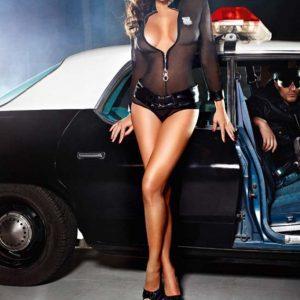 透明な 制服 セクシー 婦人警官 コスプレ ナイトクラブ-Halloween-trw0725-0016
