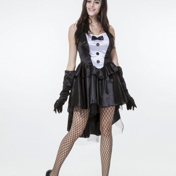 コスプレ 燕尾 バニーガール ウサギ うさ耳  ハロウィン メイド服-Halloween-trw0725-0029