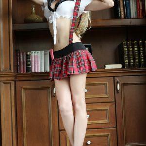 衣装 学生服コスチューム 女子高生 セクシー  ナイトクラブ ハロウィン School Girl-Halloween-trw0725-0054