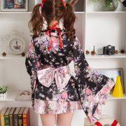 Sexy kimono 桜 さくら 豪華な 着物 浴衣 ロリータ 写真撮影-Halloween-trw0725-0075 2