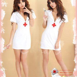 ナース服 コスプレ衣装 制服 バックレス セクシー 看護婦 白 職業 天使-Halloween-trw0725-0086