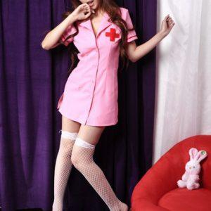 2色 ナース服 看護師 白衣 ナイトクラブ  セクシー コスプレ ハロウィン衣装-Halloween-trw0725-0088