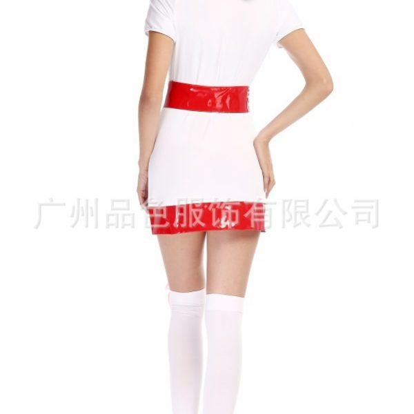 Nurse Costumes 白 看護婦 医者 ハロウィン cosplay衣装 セクシー コスプレ衣装-Halloween-trw0725-0093