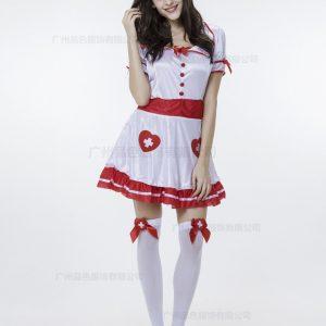 白 ナース服  セクシー コスプレ衣装 制服セクシー コスプレ ハロウィン-Halloween-trw0725-0105