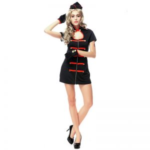 コスプレ ナース ナース服 ハロウィン 黒衣 医者 セクシー 激安 通販 コスチューム-Halloween-trw0725-0116