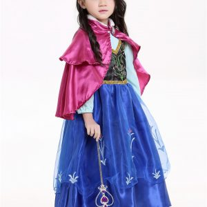 Disney Princess アナと雪の女王 プリンセス ドレス  コスチューム 子供-Halloween-trw0725-0133