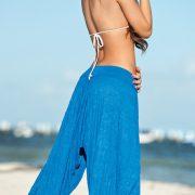 ビーチウェア Beachwear ビキニ 水着 ワイドレッグパンツ-Halloween-trw0725-0134 2