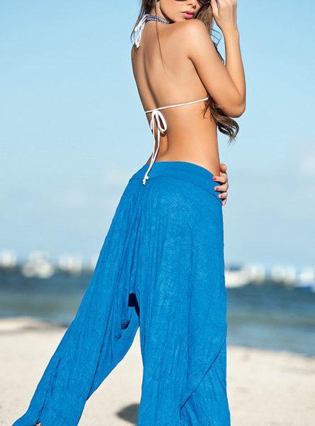 ビーチウェア Beachwear ビキニ 水着 ワイドレッグパンツ-Halloween-trw0725-0134