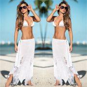 ホワイト スプリット ファッション セクシー ビーチウェア セット Beachwear-Halloween-trw0725-0135 2