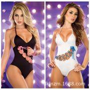 カバーオール 水着 セクシー ビキニ 女性 サロペット  ポップカラー-Halloween-trw0725-0141 2
