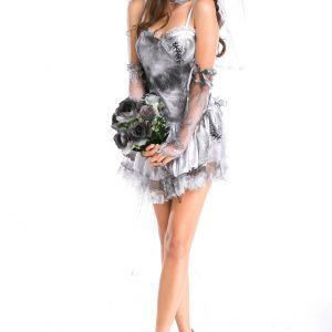 ハロウィン コスプレ衣装 仮装パーティー ゾンビ  お花嫁 鬼新娘 新作-Halloween-trw0725-0148
