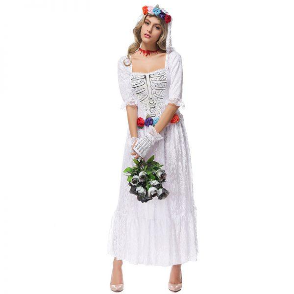 ハロウィン コスプレ ゾンビ 花嫁 衣装 ハロウィン 衣装 ゾンビの花嫁 大人用コスチューム ゾンビ ホラー オバケ屋敷 ハロウィン 衣装 ハロウィン-Halloween-trw0725-0154
