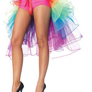 バッスルタイプレインボーパニエ・テールスカート/チュチュ/ペチコート/コスプレ/セクシーコスプレ・ハロウィン・halloween・仮装パーティ、キャバクラ、お店、キャバ衣装・ナイトドレス・セクシード-Halloween-trw0725-0167