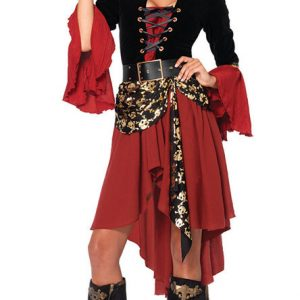 埋もれたお宝を探す女海賊 舞台衣装 宴会 演出 学園祭 文化祭 ステージ衣装 ハロウィン コスチューム 衣装 魔女 女王様 クリスマス ハロウィン-Halloween-trw0725-0212