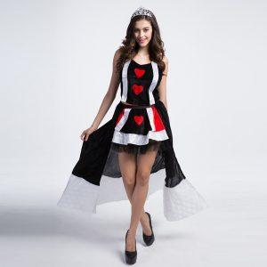 ハロウィン  クイーン 服 デジタルポーカー cosplay 服 ゲームの服  制服 -Halloween-trw0725-0220
