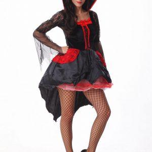 ハロウィン コスチューム 悪魔 吸血鬼 ヴァンパイア 鬼魔女 巫女 変装 仮装 大人用 学園祭 パーティー服 変装 仮装 大人用-Halloween-trw0725-0255