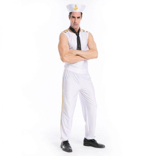 スプレ衣装 セーラー服 メンズ 大人用 セクシー ネイビー costume 海軍服 セーラー服 水兵 男性用 制服 マリンコスプレ 水兵服 海軍 ハロウィン 水兵さん-Halloween-trw0725-0293