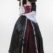 Vampire Costumes ハロウィン コスチューム 悪魔 吸血鬼 ヴァンパイア 鬼魔女 巫女 大人用 パーティー服-Halloween-trw0725-0313 2