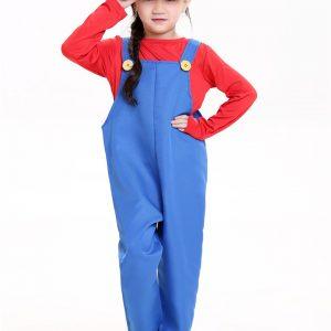 コスプレでゲームの世界へ!スーパーマリオ 2色 撮影用 子供-Halloween-trw0725-0319