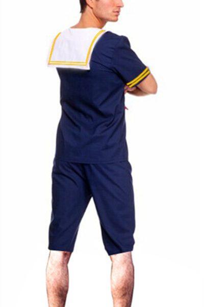 セーラー  海軍風  ハロウィン 大人用 水兵服 海軍 男性用 コスプレゲームの服 水兵さん-Halloween-trw0725-0324