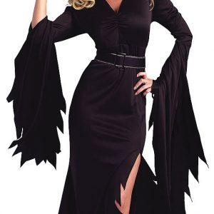 ハロウィン ブラック  魔女ドレス コスプレ衣装 大人用 魔女コスプレ 舞台服-Halloween-trw0725-0370