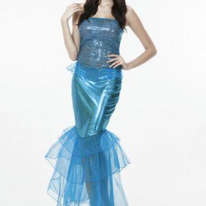 ハロウィーン クリスマス 制服 人魚姫 コスチューム 衣装 マーメイドコスプレ-Halloween-trw0725-0377