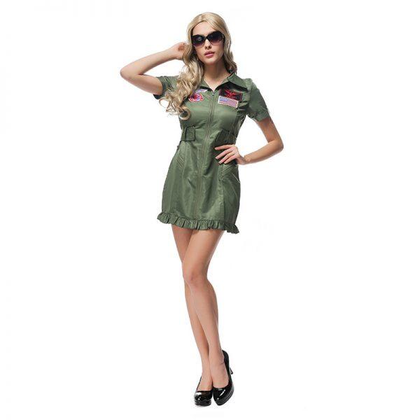 舞台演出服 制服 女性用 ハロウィン cosplay スチュワーデス-Halloween-trw0725-0392