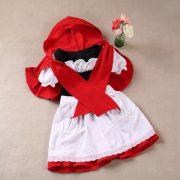 世界の童話・昔話 赤ずきんchan エプロン  ワンピース ハロウィン/衣装 子供-Halloween-trw0725-0403 2