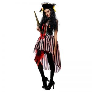 ハロウィン ブラウン 海賊 パイレーツ 女性用 コスチューム パイレーツ・オブ・カリビアン コスチュームコスプレ-Halloween-trw0725-0418
