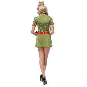 セーラー服 コスチューム ブルーポリエステル ハロウィン 女性用 大人用 コスプレ衣装 舞台演出服-Halloween-trw0725-0423