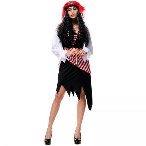 パイレーツオブカリビアン 衣装 3点セット ハロウィン コスプレ コスチューム パイレーツオブカリビアン 衣装 アンジェリカ 衣装 コスチューム 大人用-Halloween-trw0725-0469