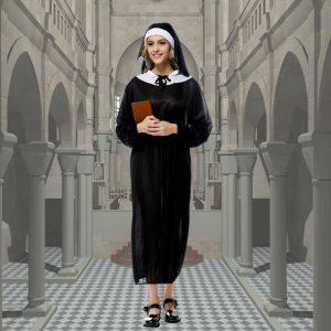 聖女シスター♪ハロウィン 仮装 衣装 コスプレ コスチューム 大人用 レディース シスター 修道女-Halloween-trw0725-0480