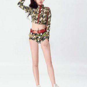 新作 海軍風 ナイトクラブ 迷彩 cosplay 制服 セクシー コスプレ衣装 舞台衣裳-Halloween-trw0725-0481
