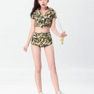 新作 海軍風 ナイトクラブ 迷彩 cosplay 制服 セクシー コスプレ衣装-Halloween-trw0725-0482