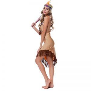 ハロウィン 野蛮人 インディアン風 先住民人 大人用 舞台衣装 余興 コスチューム シスター風 新品入荷 -Halloween-trw0725-0492