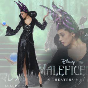 マレフィセント 衣装、コスチューム Deluxe 大人女性用 マレフィセント 魔女 魔法使い 魔女 マレフィセン-Halloween-trw0725-0496