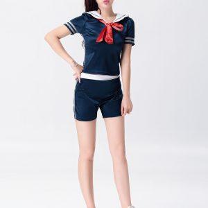 女子制服 セーラー海軍風 制服 舞台演出服 コスプレ 女性用-Halloween-trw0725-0504