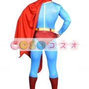 全身タイツ ブルー 大人用 ユニセックス スーパーマン ―taitsu-tights1166 3