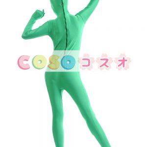 全身タイツ ライクラ・スパンデックス 大人用 グリーン ―taitsu-tights1475
