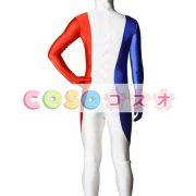 全身タイツ フランスの国旗柄 ユニセックス 大人用 コスチューム衣装 コスプレ ―taitsu-tights1082 3