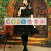 シフォンスカート ブラック ロリィタスカート レーストリム ―Lolita0003 3