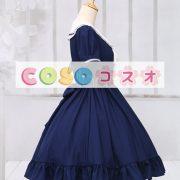 ロリィタワンピース ディープブルー 半袖 セーラースタイル ―Lolita0015 3