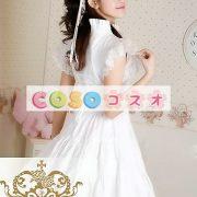 甘いの純粋な綿スタンド襟フリルの付いたロリータワン ピース ―Lolita0049 3