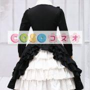 ゴシック ブラック ロリィタワンピース 長袖 フリル ―Lolita0088 3