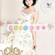 かわいいノースリーブ コットン ベージュ ロリータ ドレス ―Lolita0243 3
