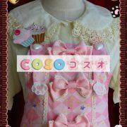 ジャンパースカート ピンク・ブラウン クリーム猫 リボン 可愛い ―Lolita0330 3