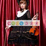 女性のための黒弓シフォン カントリーロリータ ドレス ―Lolita0601 3