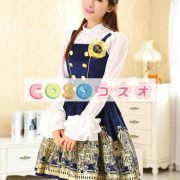 コルセット ディープブルー 合成繊維 可愛い パーティー  ―Lolita0619 3