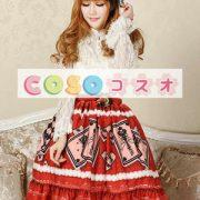 エレガントな赤レース ゴスロリ スカートを印刷 ―Lolita0679 3