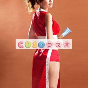 ハロウィングッズ ニンジャ 女性用 大人用 セット レッド―festival-0003